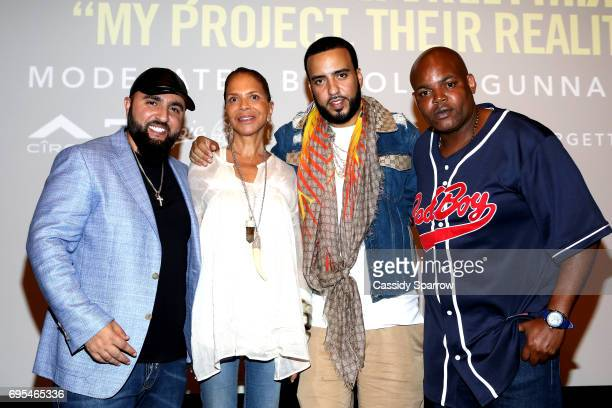 Wassim 'SAL' Slaiby Sylvia Rhone French Montana and Harve Pierre attend French Montana PROJECT UNFORGETTABLE 'MY STORY THEIR REALITY' Documentary...