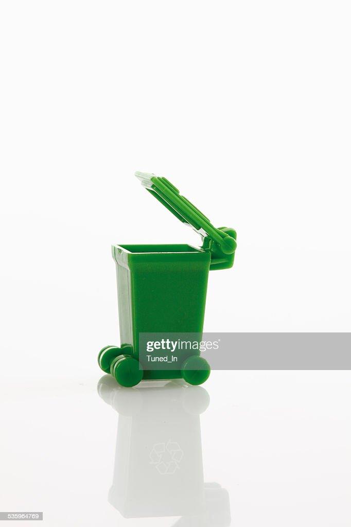 Waste bin on white background : Stock Photo