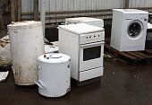 Waste houshold appliances outdoor