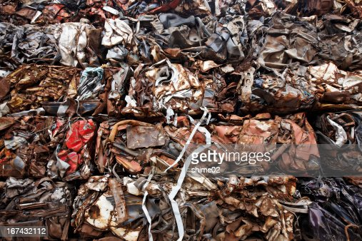Os resíduos : Foto de stock