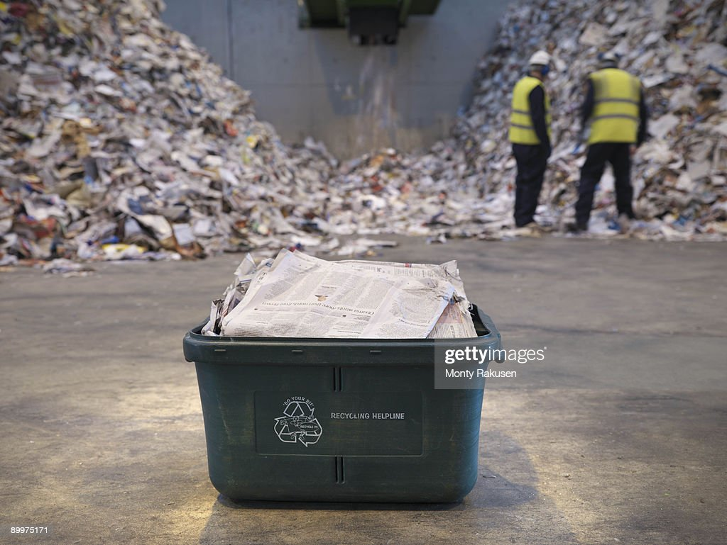 Waste Recycling Box In Plant : Stock Photo