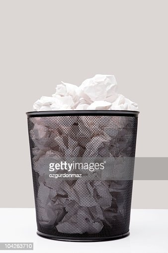 Wastepaper Basket wastepaper basket stock photo   getty images