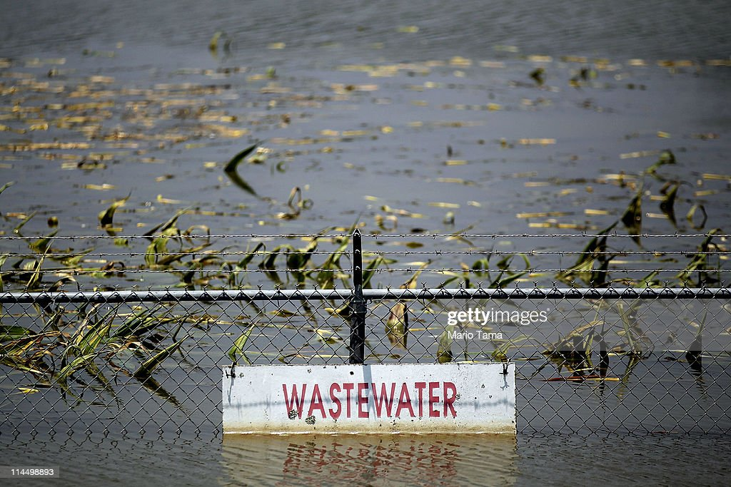 A wastewater treatment plant is inundated by the Yazoo River floodwaters near Yazoo City May 22 2011 in Yazoo County Mississippi The Yazoo River...