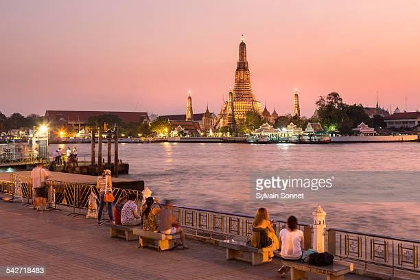 Wat Arun Temple at dusk, Bangkok