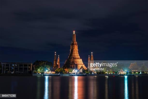 Wat Arun Temple in bangkok thailand in twilight. Bangkok is beautiful city in Southeast Asia. Bangkok, Thailand.