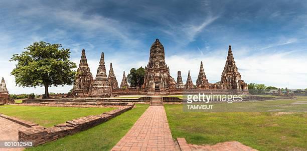 Wat Chaiwattana at Ayutthaya history park.