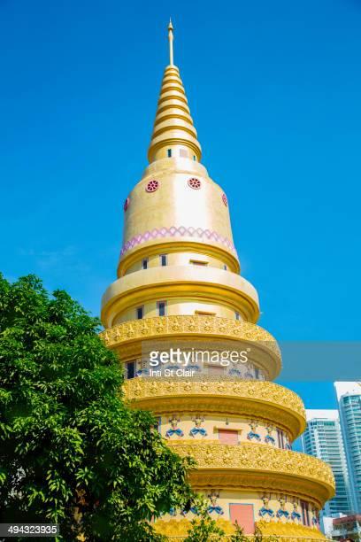 Wat Chayamangkalaram temple under blue sky, George Town, Penang, Malaysia