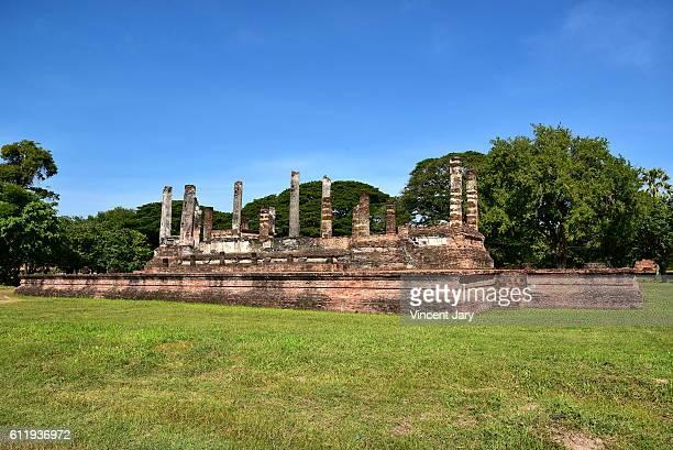 Wat Mai temple Sukhothai  landscape Thailand, Asia