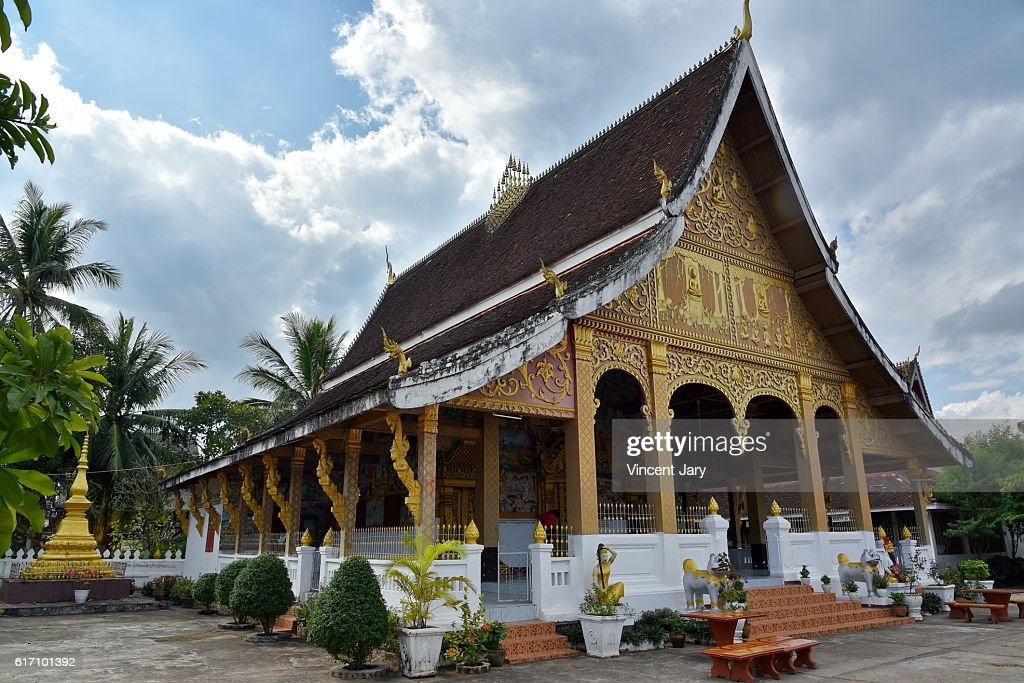 Wat Phonxay Sanasongkham temple luang prabang Laos Asia : Stock Photo