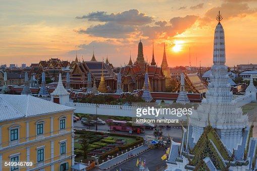 Wat phra kaew in sunset,Thailand