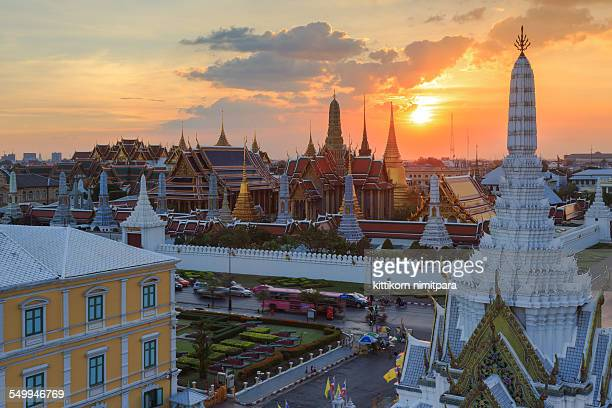 Wat phra kaew in sunset,Thailand