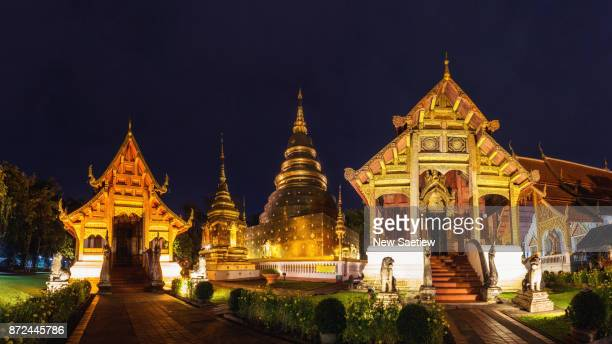 Wat Phra Singh is a Buddhist temple in Chiang Mai at Northern Thailand.