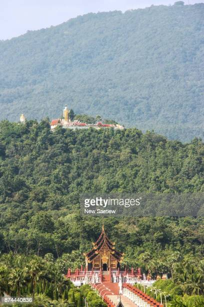 Wat Phra That Doi Kham is a Buddhist temple in Chiang Mai at Northern Thailand.