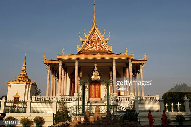 Wat Preah Keo Morokat also known as the Silver Pagoda or Temple of the Emerald Buddha
