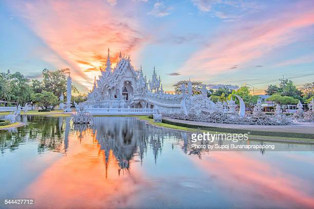 Wat Rong Khun or white temple in Chiang Rai,Thailand