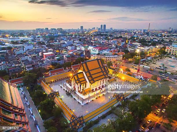 Wat Suthat Temple Bangkok, Thailand.