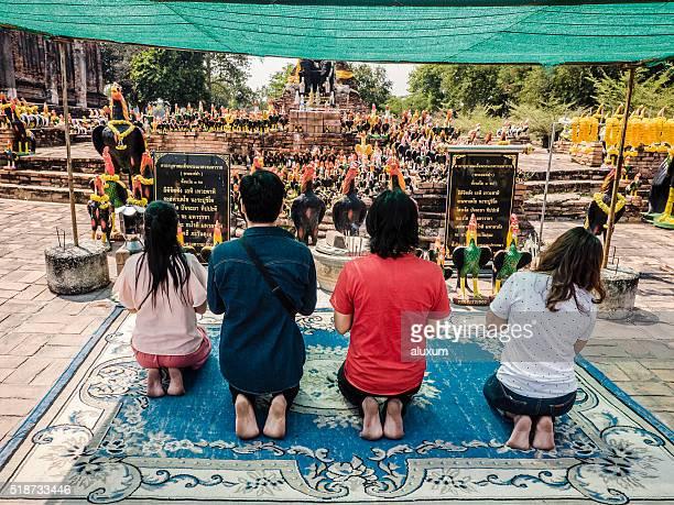 Wat Thammikarat shrine in Ayutthaya Thailand