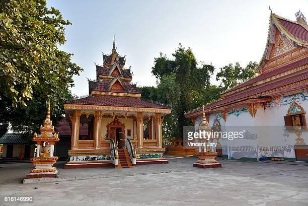 Wat That luang Ta temple Vientiane Laos