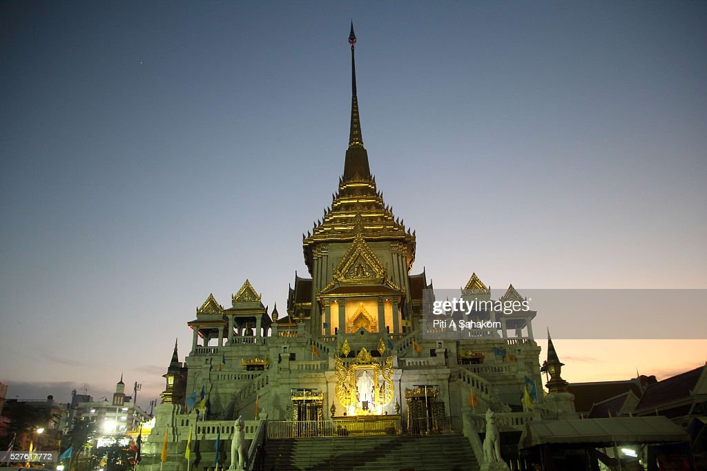Wat Traimit temple in Bangkok. The Thai Buddhist monk became famous and well known as a magic monk as he is credited to be a part of Leicester City's success after he traveled several times to King Power Stadium in England.