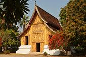 Wat Xieng Thong, Luang Prabang. The Hohng Kep Mien houses the royal charriot.