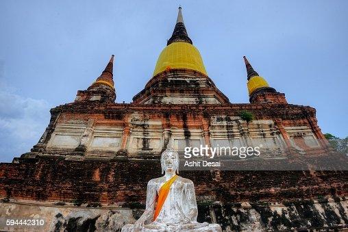 Wat Yai Chai Mongkhon Ayutthaya Thailand Stock Photo ...