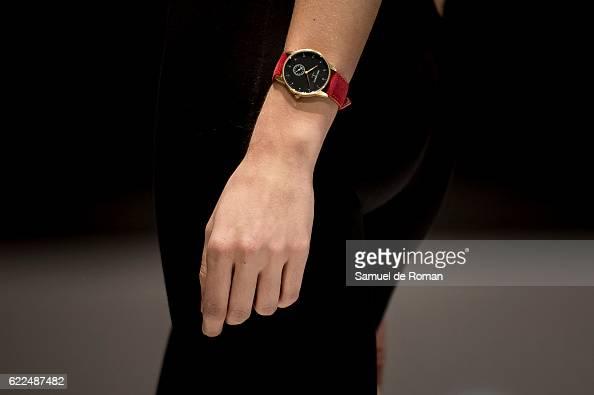 A watch detail is seen during the runway at the Paul Hewitt show during pasarela de la moda de castilla y leon 2016 at MEH november 8 2016 in Burgos...