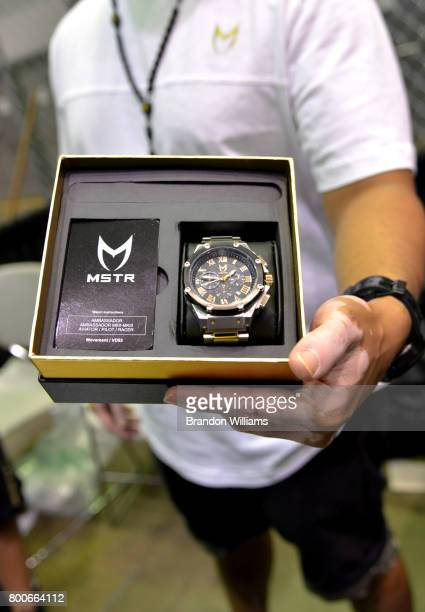 MSTR watch displayed at Kicksperience during the 2017 BET Experience at Los Angeles Convention Center on June 24 2017 in Los Angeles California