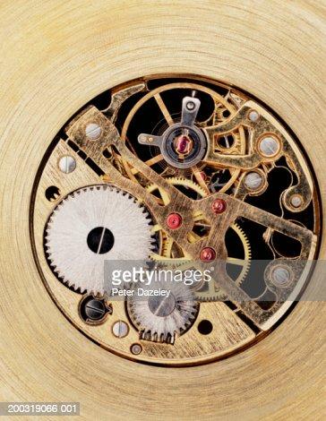 Watch mechanism, close up