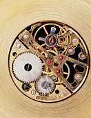 Watch mechanism, close up