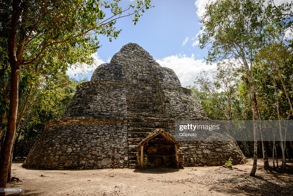 XXXL: Watch Tower at the Mayan ruins of Coba, Mexico : Stock Photo