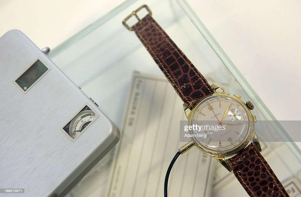 A watch used as a microphone, connected to a recorder, produced in Switzerland in the 1960s by the NAGRA company, is displayed at the Stasi (Staatssicherheit), or East German Secret Police Museum, on October 30, 2013 in Berlin, Germany. German officials have maintained that they had strong evidence indicating that the American Nation Security Agency (NSA) has eavesdropped on Chancellor Angela Merkel's mobile phone, surveillance that the U.S. has since claimed is essential to its security operations and is standard procedure. The charge has caused a furor among political leaders across Europe, but is particularly troublesome to those who, like Merkel, grew up in the former East Germany and have recent memories of being spied upon by their own government. In response to anger over the matter from Germany, Mexico, France, Spain and Brazil ,the U.S. Senate Intelligence committee is currently conducting a major review of such surveillance operations, while the NSA insists that any such data collected on ordinary citizens turned over to the agency had been conducted by the local allied governments themselves.