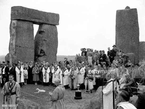 Watched by thousands of spectators members of the Haemus Lodge of the Ancient Order of Druids conducted their annual midsummer ceremony within the...