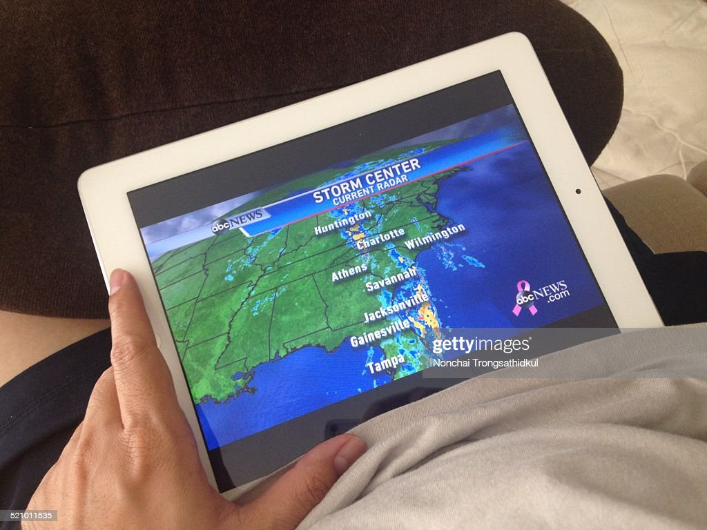 Watching Live ABC news weather forecast on Tablet