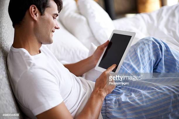 Filmen im Bett