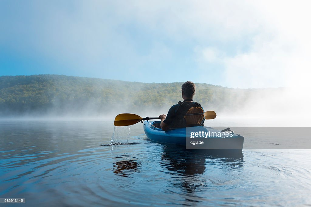 Watching the Mist Rise : Stock Photo