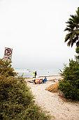 Watching the surf at a California beach