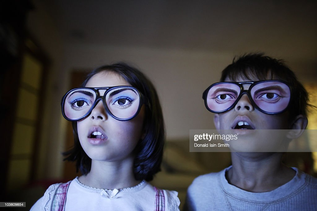 Watching TV : Stock Photo