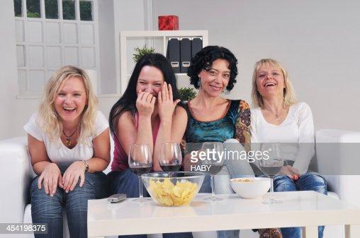 Watching TV : Stock Photo