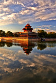 A Watchtower of the Forbidden City at Sunrise