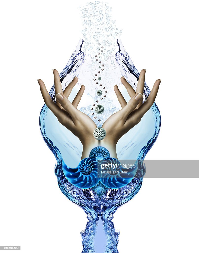 Water and Hand Composition : Stock Photo