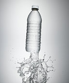 Water bottle with a water splash