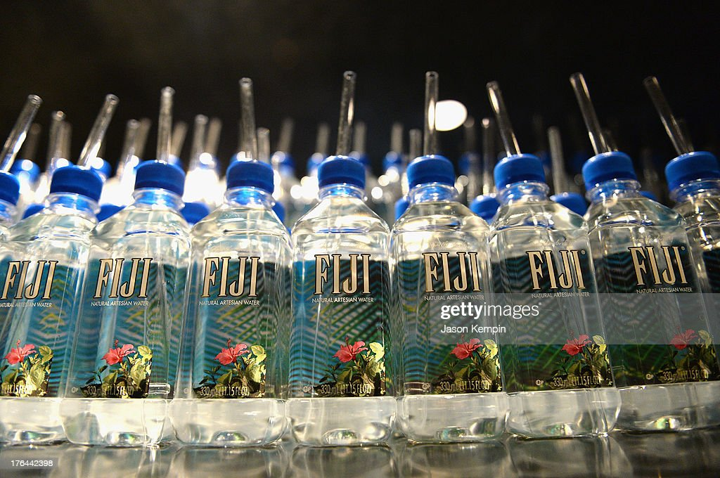 Water bottles are seen on display at the Los Angeles premiere after-party of 'Lee Daniels' The Butler' at WP24 Restaurant and Lounge on August 12, 2013 in Los Angeles, California.