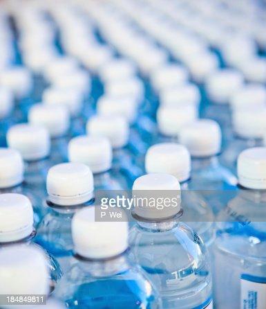 Water bottles bottling plant
