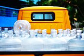Water Bottles On Delivery Truck