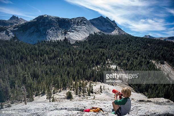 Water break for Child, Yosemite