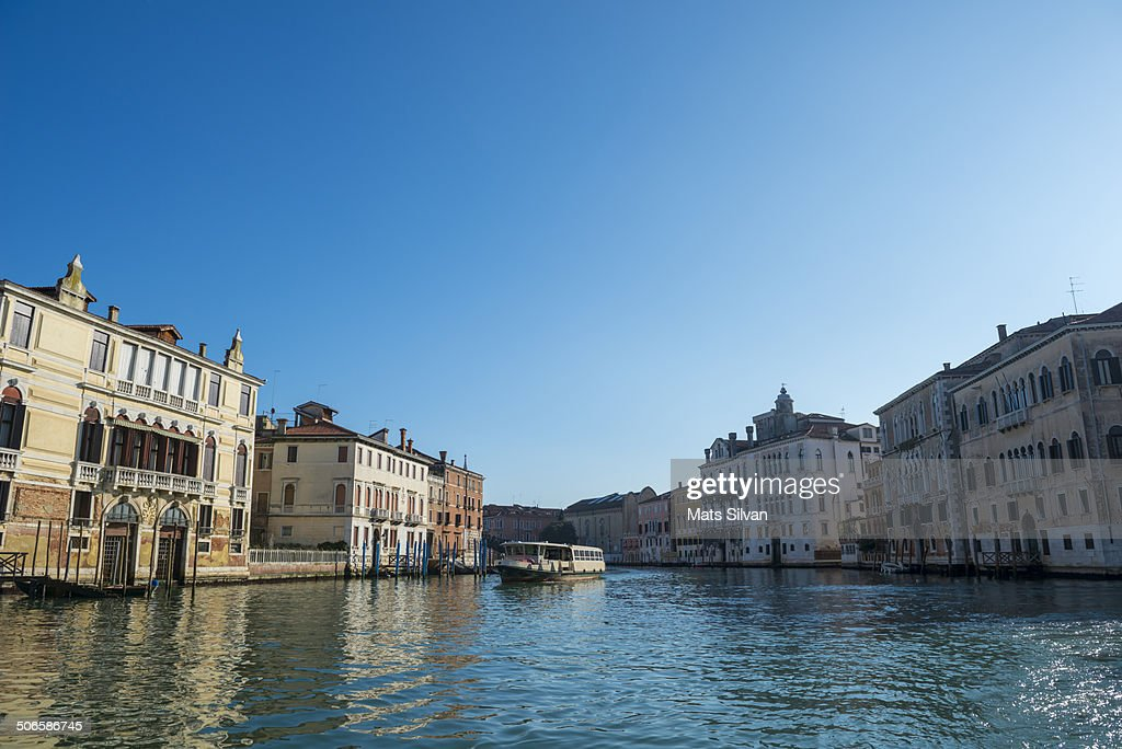 Water bus on Grand canal in Venice
