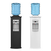 Water Cooler isolated on white background. 3D render
