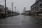Water covers Third Avenue during a blizzard January 23 2016 in Stone Harbor New Jersey A major snowstorm is upon the East Coast this weekend with...