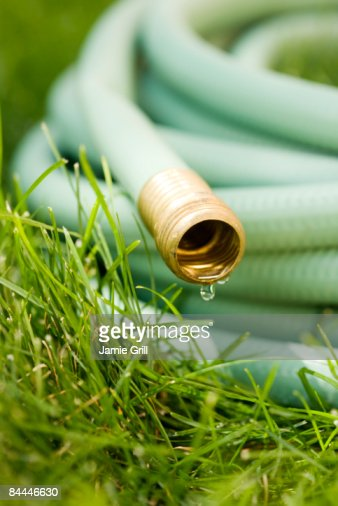 Water Dripping From Garden Hose