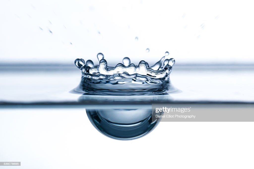 Water drop close-up